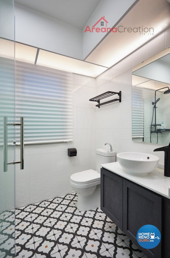 Contemporary Design - Bathroom - HDB 5 Room - Design by Areana Creation Pte Ltd