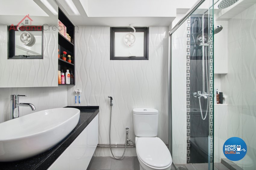 Contemporary, Modern Design - Bathroom - HDB 5 Room - Design by Areana Creation Pte Ltd