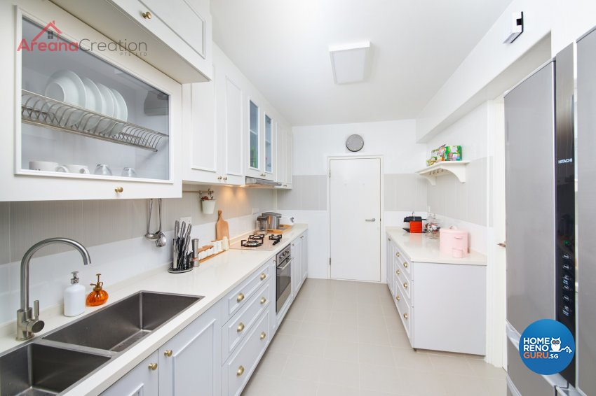 Classical, Contemporary, Country Design - Kitchen - HDB 5 Room - Design by Areana Creation Pte Ltd