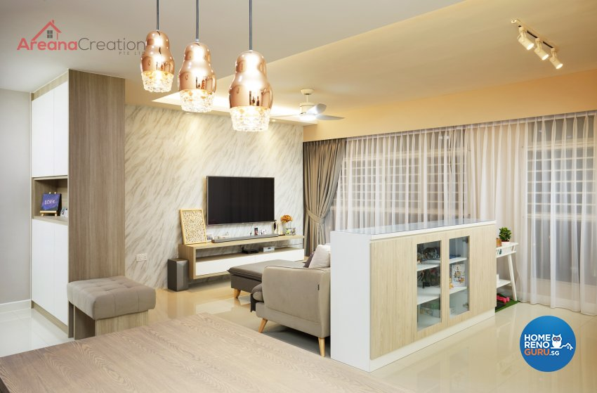 Classical, Contemporary, Country Design - Living Room - HDB 5 Room - Design by Areana Creation Pte Ltd