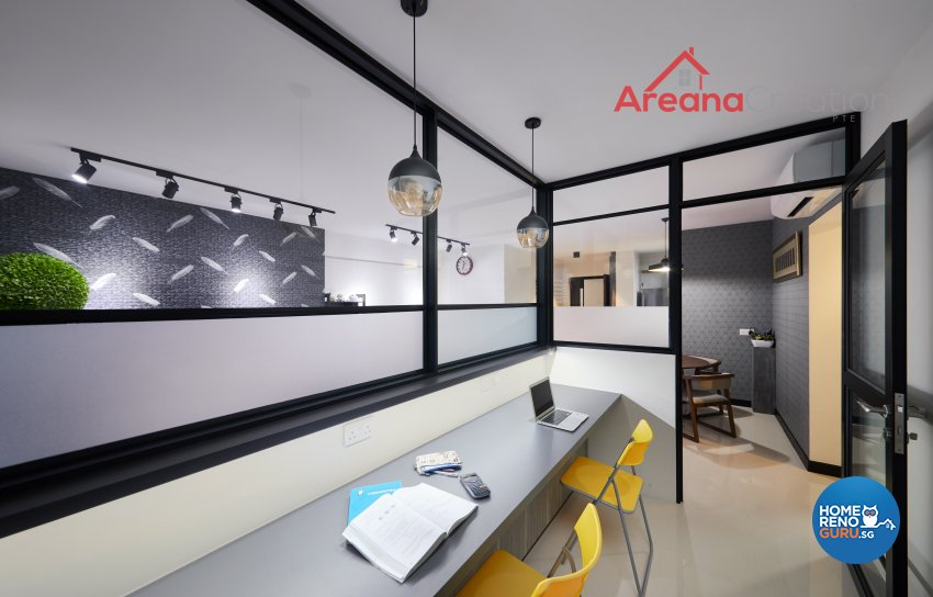 Contemporary, Modern Design - Study Room - HDB 5 Room - Design by Areana Creation Pte Ltd