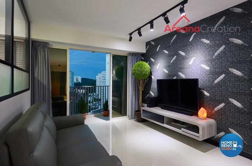 Contemporary, Modern Design - Living Room - HDB 5 Room - Design by Areana Creation Pte Ltd