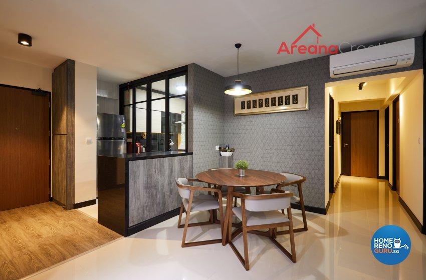 Contemporary, Modern Design - Dining Room - HDB 5 Room - Design by Areana Creation Pte Ltd
