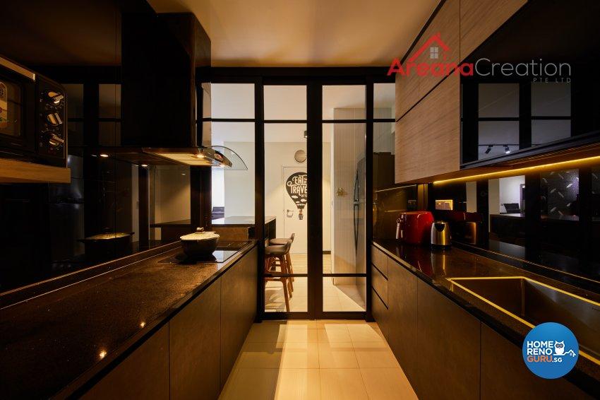 Contemporary, Modern Design - Kitchen - HDB 5 Room - Design by Areana Creation Pte Ltd