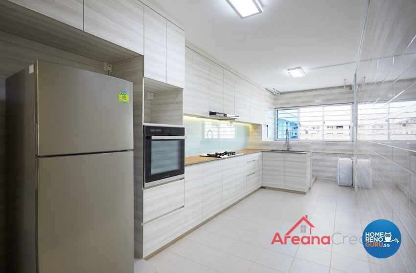 Contemporary Design - Kitchen - HDB 5 Room - Design by Areana Creation Pte Ltd