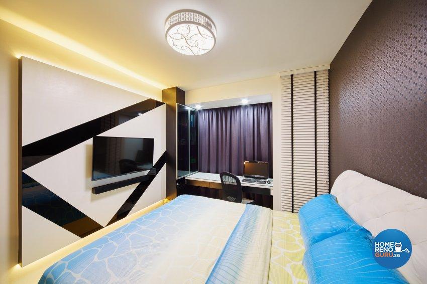 Contemporary, Minimalist, Modern Design - Bedroom - HDB Executive Apartment - Design by Areana Creation Pte Ltd