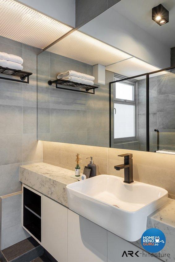 Contemporary, Industrial, Minimalist Design - Bathroom - HDB 4 Room - Design by ARK-hitecture Pte Ltd