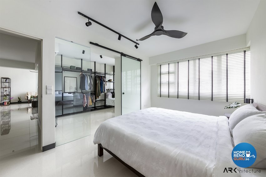 Contemporary, Industrial, Minimalist Design - Bedroom - HDB 4 Room - Design by ARK-hitecture Pte Ltd