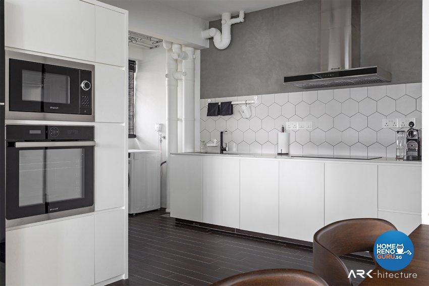 Contemporary, Industrial, Minimalist Design - Kitchen - HDB 4 Room - Design by ARK-hitecture Pte Ltd