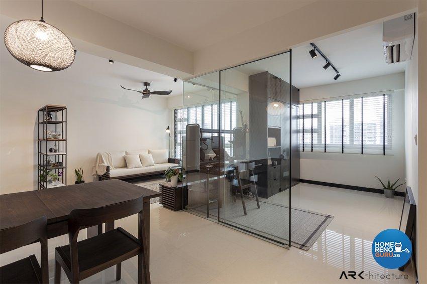Contemporary, Industrial, Minimalist Design - Living Room - HDB 4 Room - Design by ARK-hitecture Pte Ltd