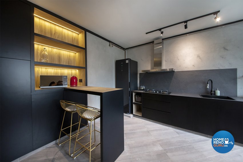 Contemporary Design - Kitchen - HDB 5 Room - Design by ARK-hitecture Pte Ltd