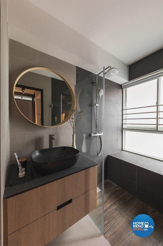 Contemporary Design - Bathroom - HDB 5 Room - Design by ARK-hitecture Pte Ltd