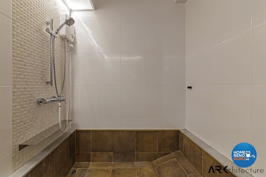 Vintage Design - Bathroom - HDB 4 Room - Design by ARK-hitecture Pte Ltd