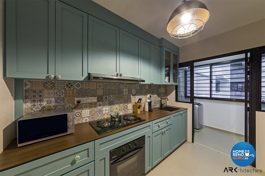 Vintage Design - Kitchen - HDB 4 Room - Design by ARK-hitecture Pte Ltd