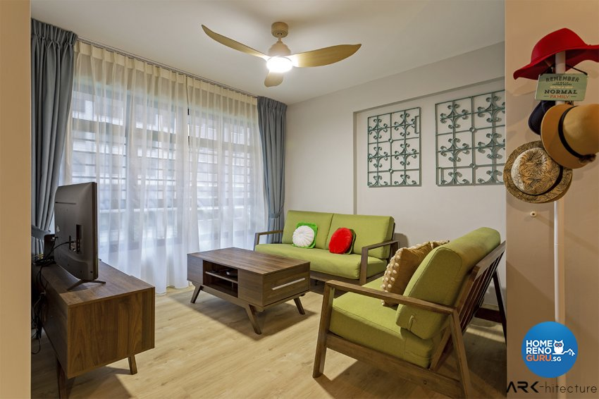 Vintage Design - Living Room - HDB 4 Room - Design by ARK-hitecture Pte Ltd
