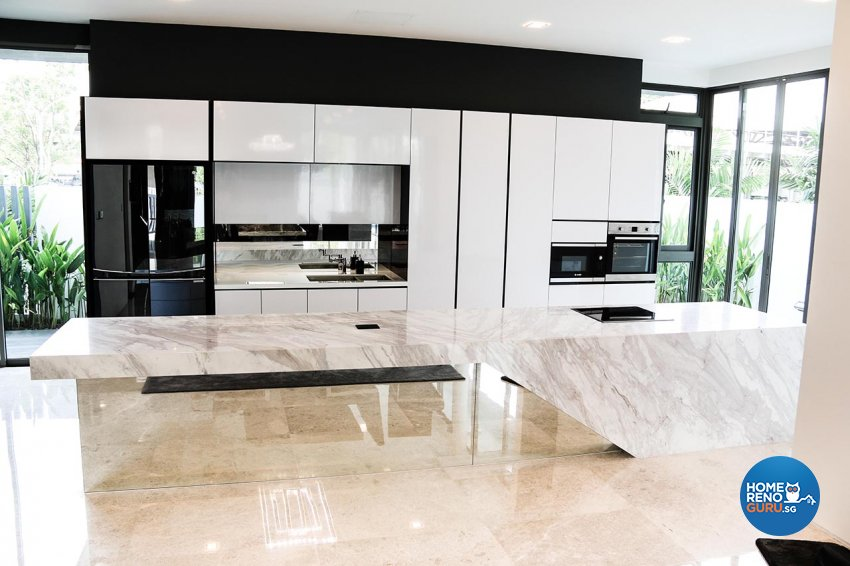 Contemporary, Minimalist, Modern Design - Kitchen - Landed House - Design by ARK-hitecture Pte Ltd