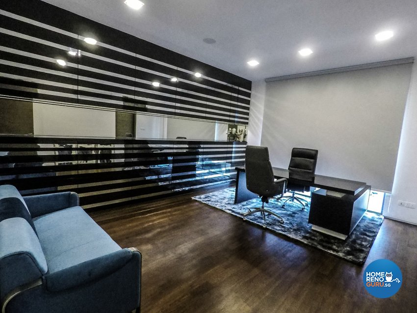 Contemporary, Minimalist, Modern Design - Study Room - Landed House - Design by ARK-hitecture Pte Ltd