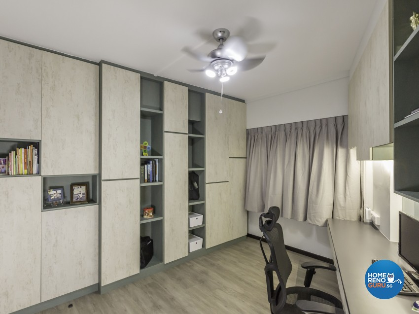 Modern, Resort Design - Study Room - HDB 4 Room - Design by Artis Interior Pte Ltd