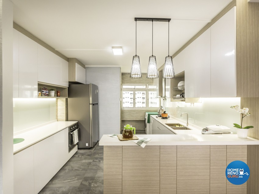 Modern, Resort Design - Kitchen - HDB 4 Room - Design by Artis Interior Pte Ltd