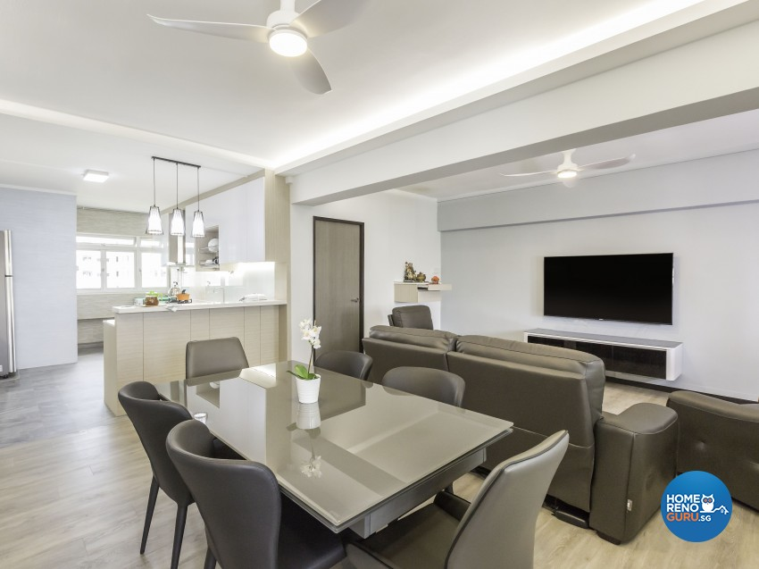 Modern, Resort Design - Dining Room - HDB 4 Room - Design by Artis Interior Pte Ltd