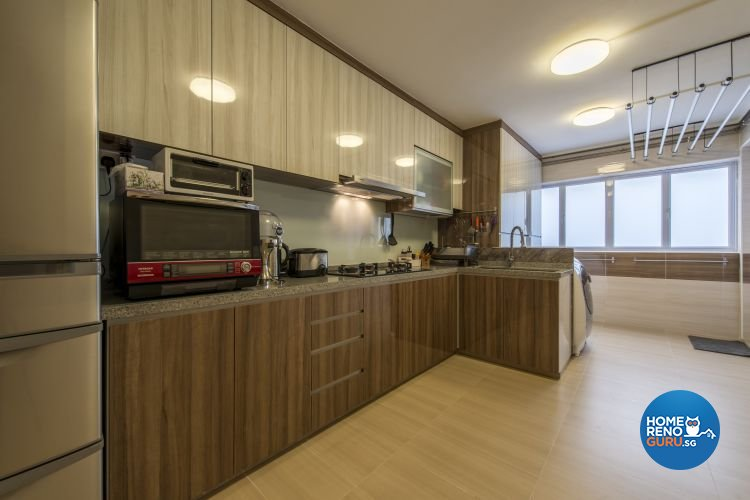 Contemporary, Modern Design - Kitchen - HDB 3 Room - Design by Artis Interior Pte Ltd