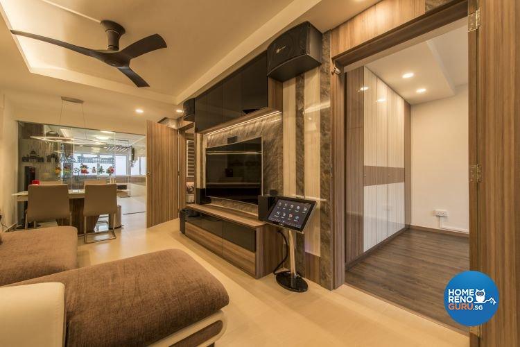 Contemporary, Modern Design - Living Room - HDB 3 Room - Design by Artis Interior Pte Ltd