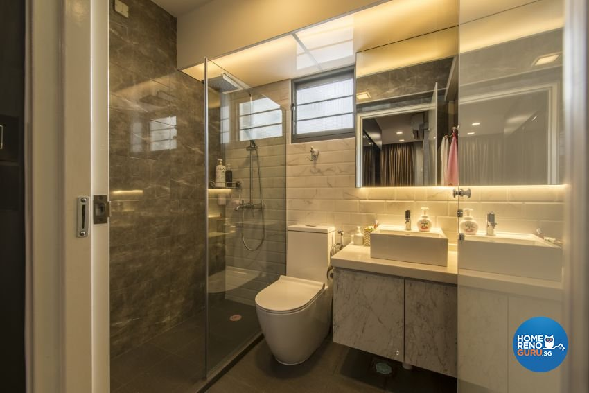 Classical, Minimalist, Modern Design - Bathroom - HDB 4 Room - Design by Artis Interior Pte Ltd