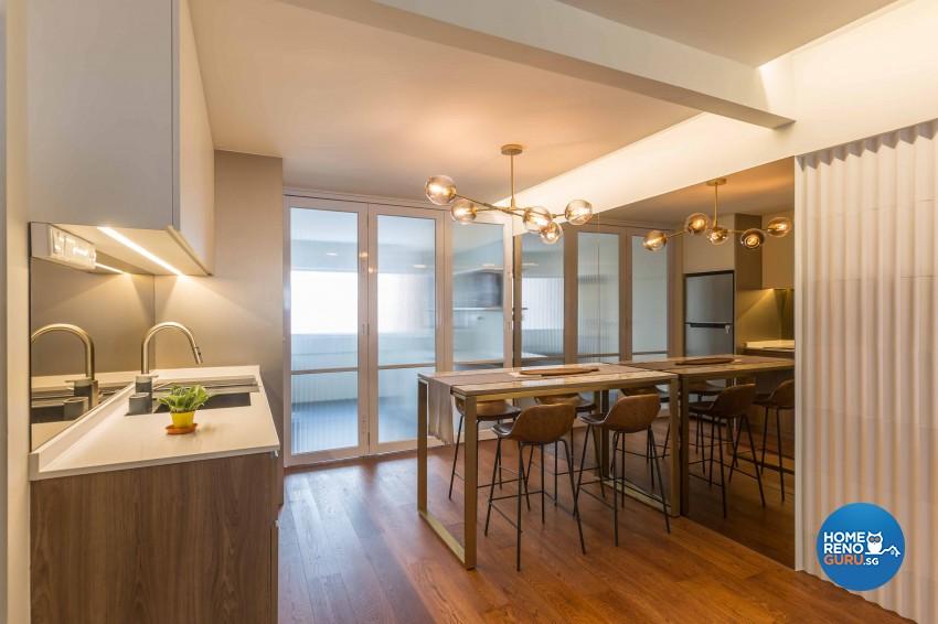 Modern Design - Dining Room - HDB 3 Room - Design by Artis Interior Pte Ltd