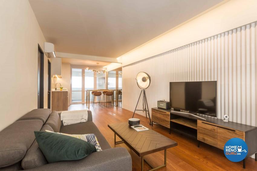 Modern Design - Living Room - HDB 3 Room - Design by Artis Interior Pte Ltd