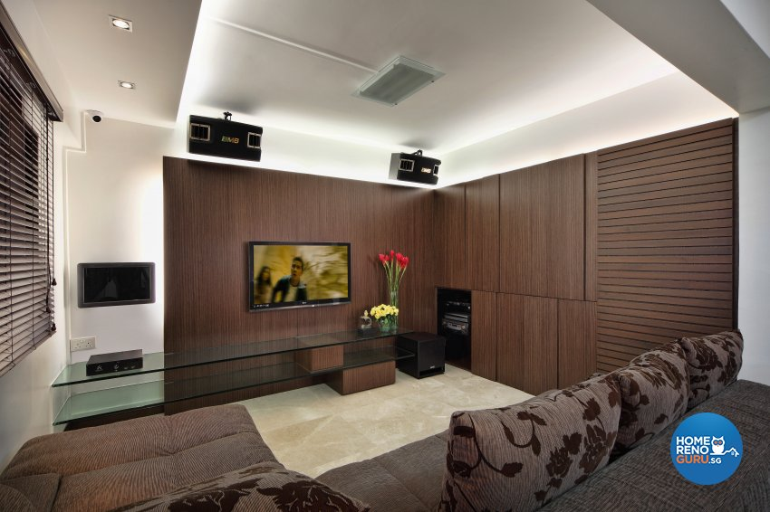 Contemporary, Resort Design - Living Room - HDB 5 Room - Design by Artrend Design