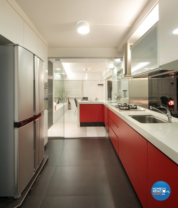 Industrial, Scandinavian Design - Kitchen - HDB 4 Room - Design by Artrend Design