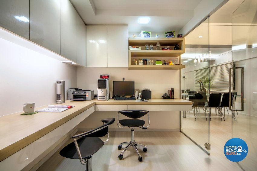 Industrial, Scandinavian Design - Study Room - HDB 4 Room - Design by Artrend Design