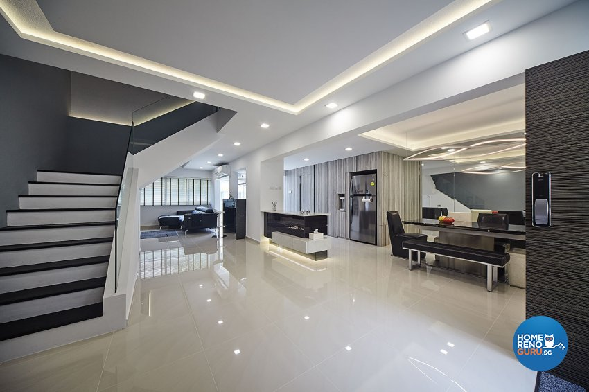 Contemporary, Modern Design - Living Room - Landed House - Design by Artrend Design