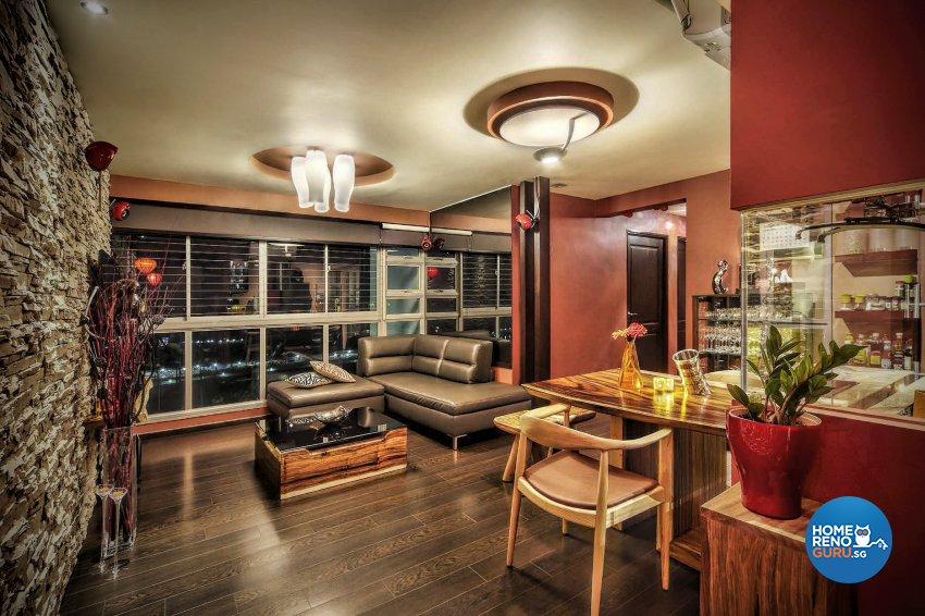 Resort Design - Living Room - HDB 4 Room - Design by Artrend Design