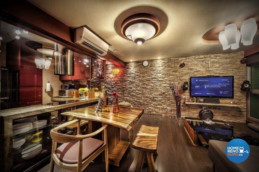 Resort Design - Dining Room - HDB 4 Room - Design by Artrend Design