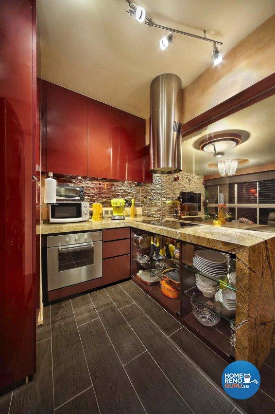 Resort Design - Kitchen - HDB 4 Room - Design by Artrend Design