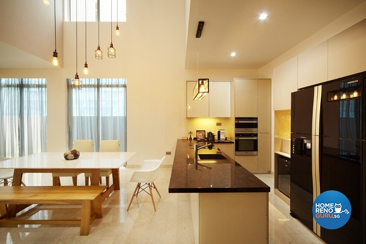Contemporary, Modern Design - Dining Room - Landed House - Design by Artrend Design