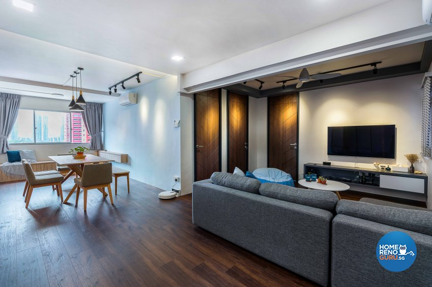 Modern, Scandinavian Design - Living Room - HDB 5 Room - Design by Artrend Design