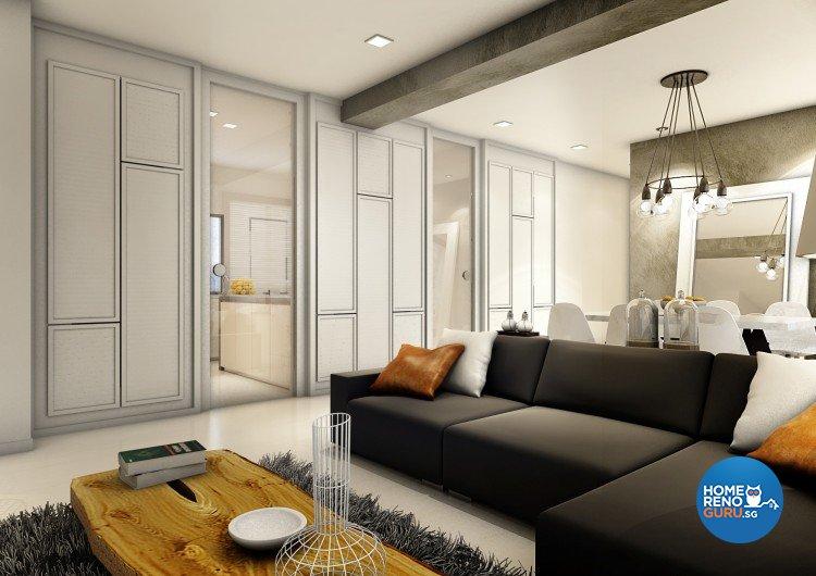 Contemporary, Modern, Scandinavian Design - Living Room - Condominium - Design by Artrend Design