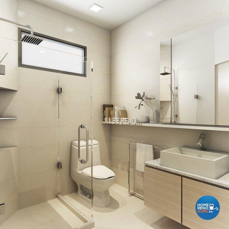 Contemporary, Modern, Scandinavian Design - Bathroom - Condominium - Design by Artrend Design