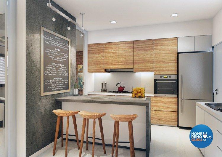 Contemporary, Modern, Scandinavian Design - Kitchen - Condominium - Design by Artrend Design
