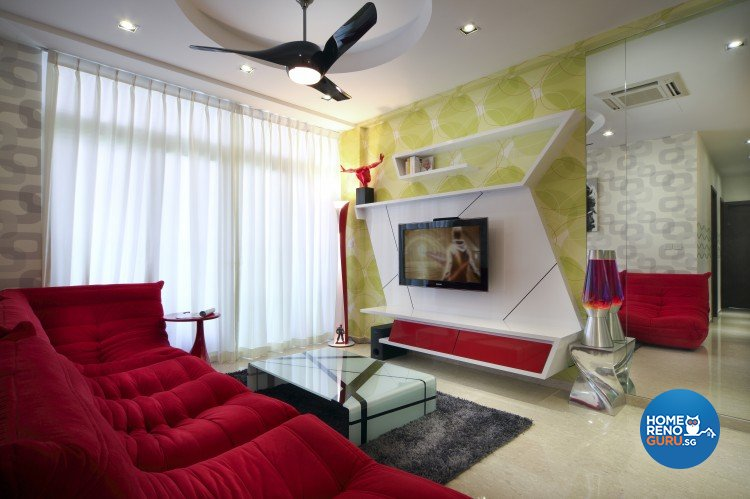 Eclectic, Modern, Retro Design - Living Room - Condominium - Design by Artrend Design