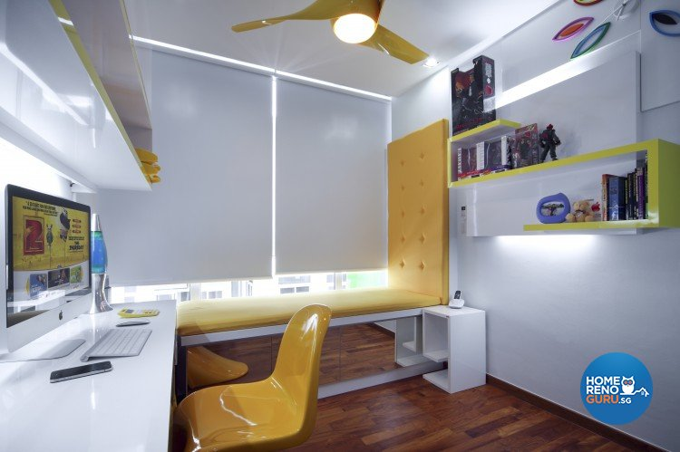 Eclectic, Modern, Retro Design - Study Room - Condominium - Design by Artrend Design