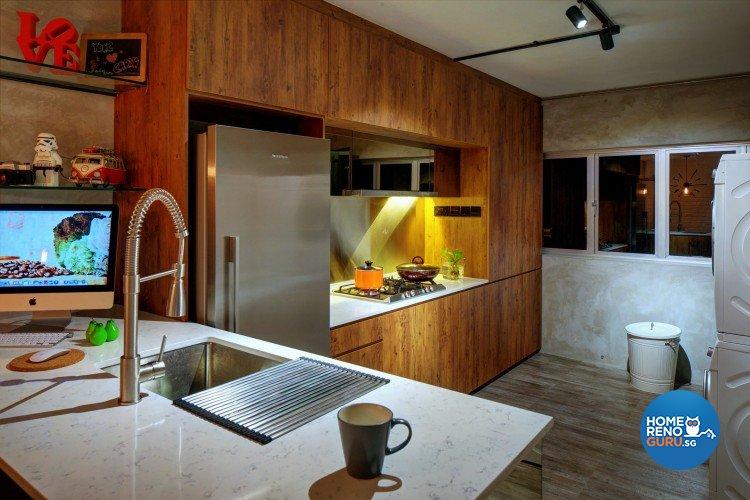 Country, Modern, Rustic Design - Kitchen - HDB 4 Room - Design by Artrend Design