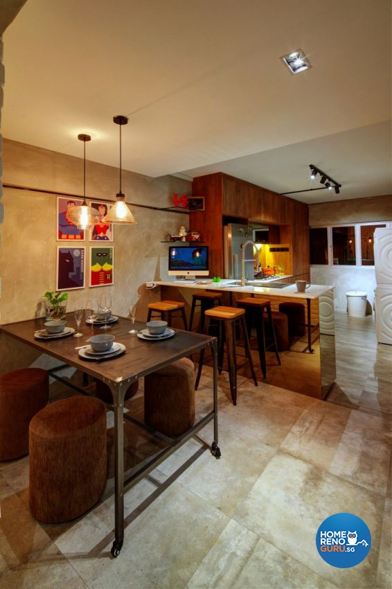 Country, Modern, Rustic Design - Dining Room - HDB 4 Room - Design by Artrend Design