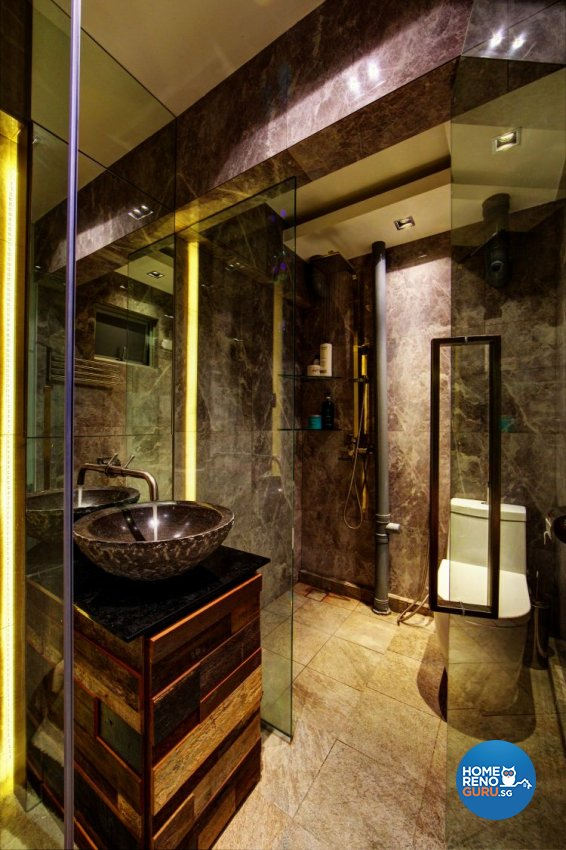 Country, Modern, Rustic Design - Bathroom - HDB 4 Room - Design by Artrend Design