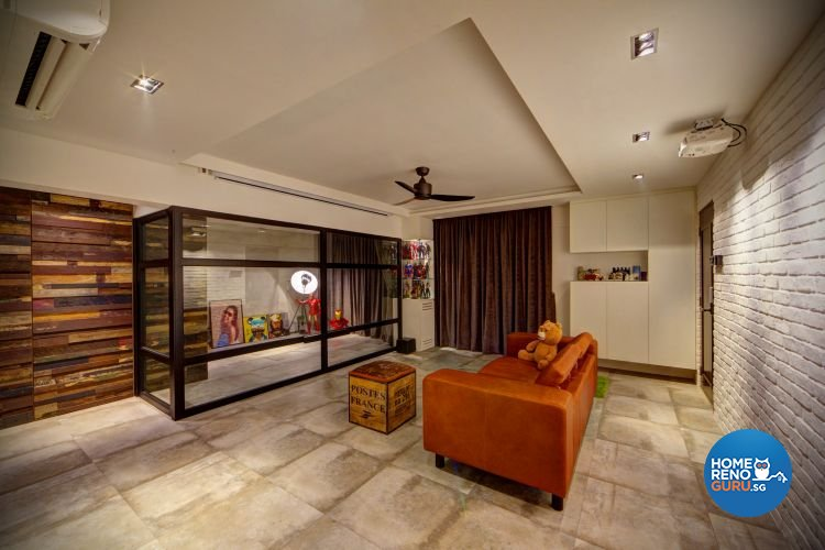 Country, Modern, Rustic Design - Living Room - HDB 4 Room - Design by