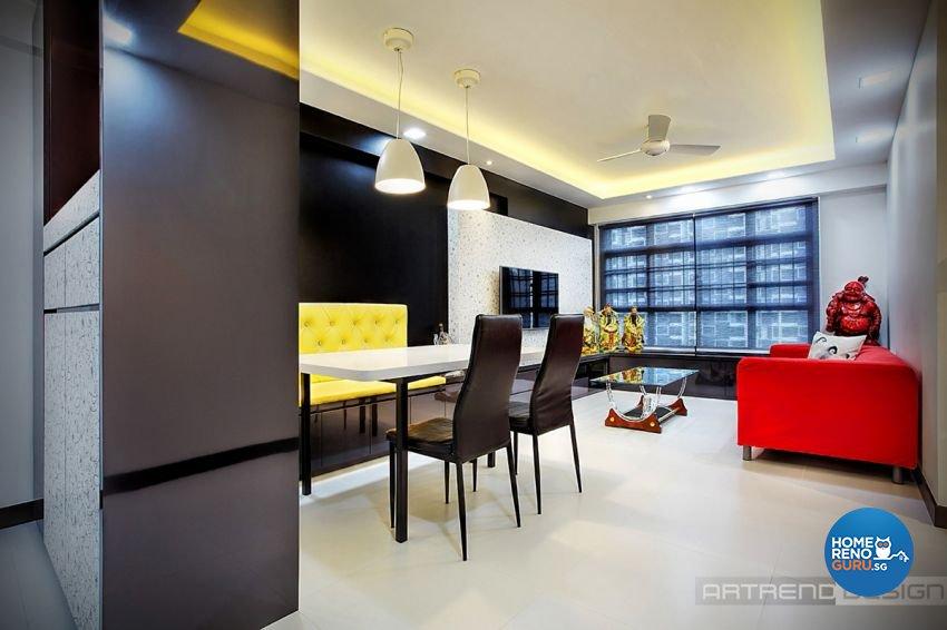 Contemporary, Minimalist, Modern Design - Dining Room - HDB 4 Room - Design by Artrend Design