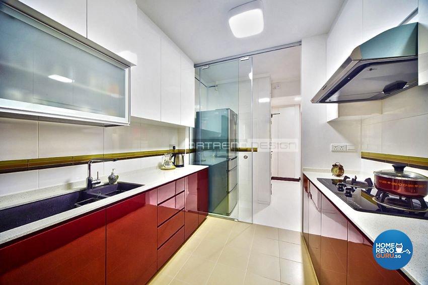 Contemporary, Minimalist, Modern Design - Kitchen - HDB 4 Room - Design by Artrend Design