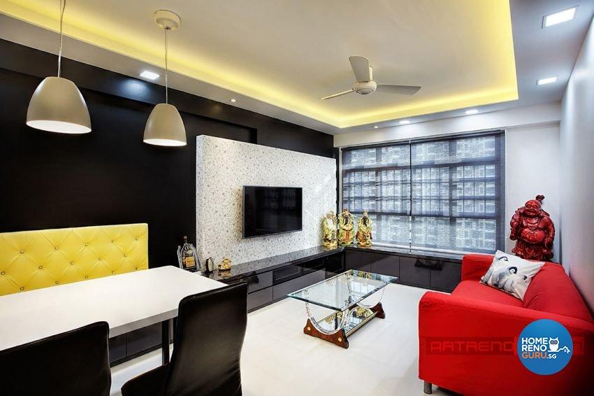 Contemporary, Minimalist, Modern Design - Living Room - HDB 4 Room - Design  by